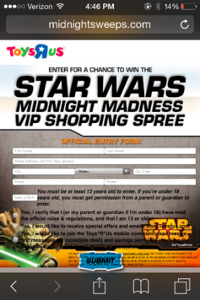 Website Sweepstakes
